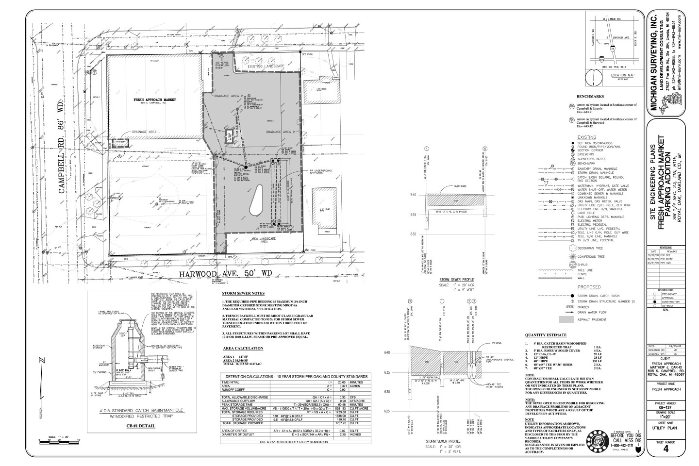 Services we offer michigan surveying inc for Site plan drawing online