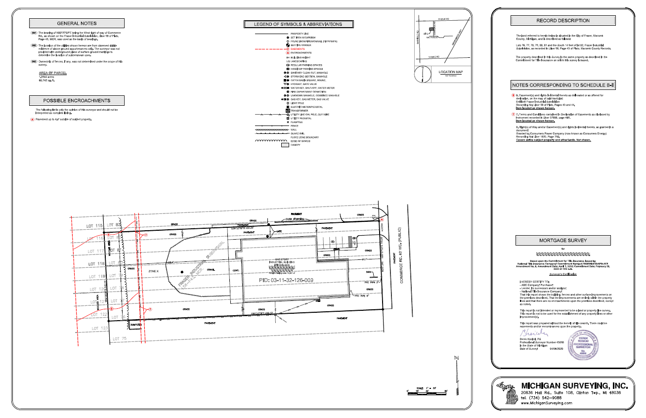 Line House Located In London: Michigan Surveying, Inc