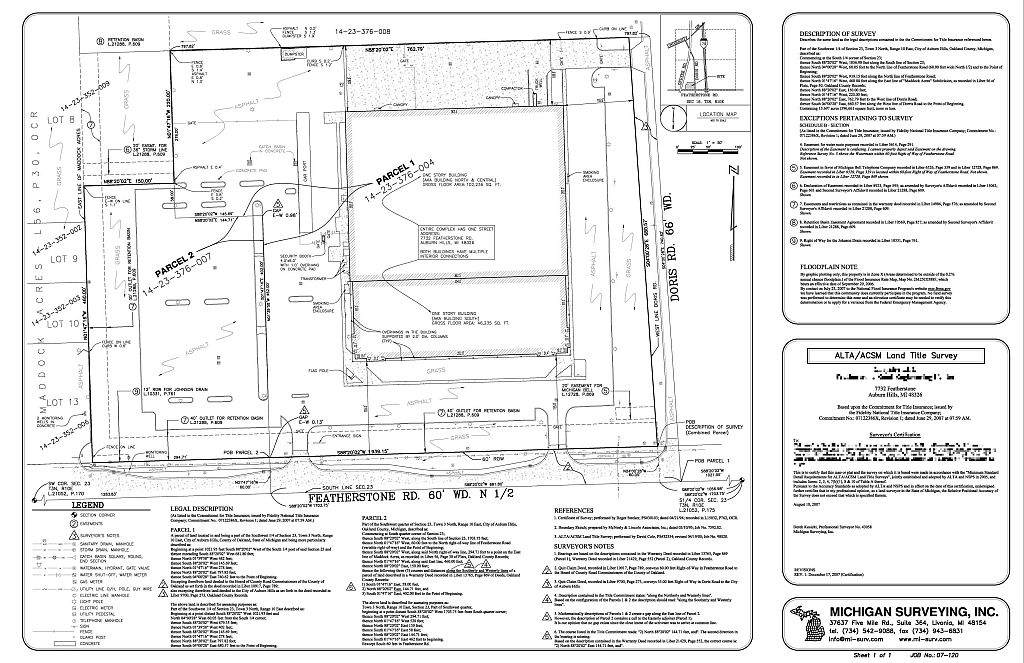 Services We Offer Michigan Surveying Inc - Property line survey map